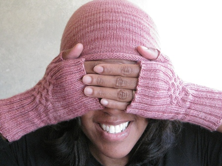 Plain Hat & Celtic Handwarmers 2012